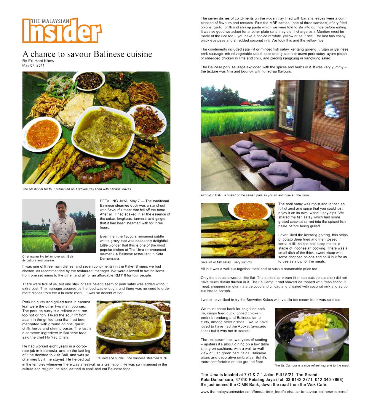 the uma bali restaurant newspaper review malaysian insider themalaysianinsider